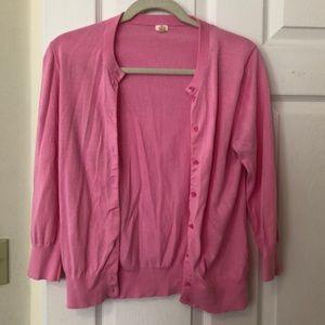 JCrew Pink Cardigan